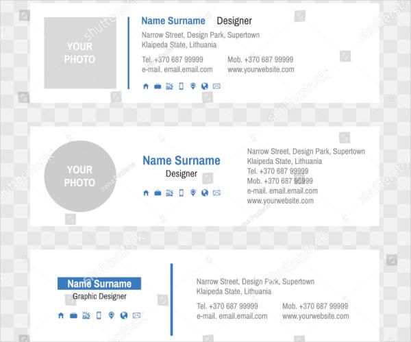 Clean Standard Email Signature Sample
