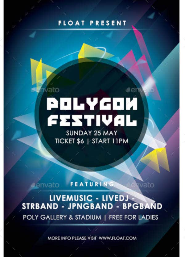 colorful-polygon-festival-flyer-template