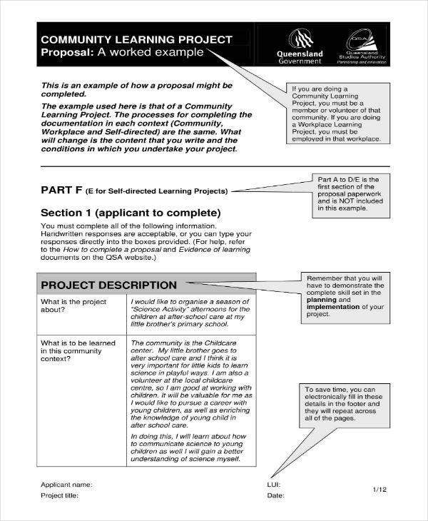 10 Community Project Proposal Templates Pdf Word Free Premium Templates