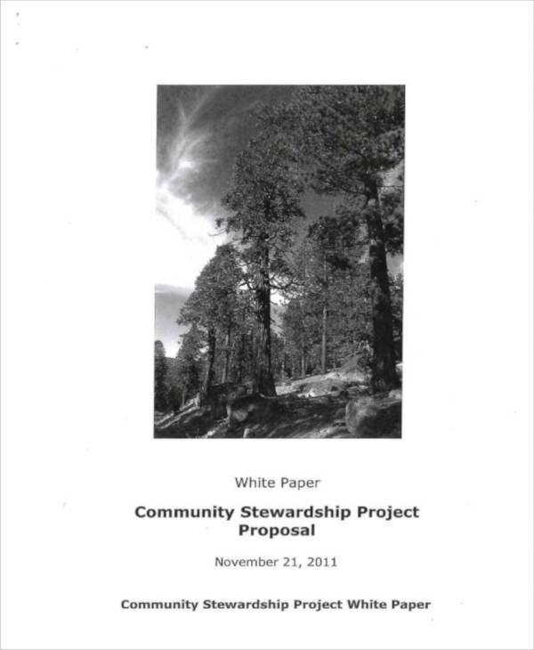 Community Proposal Plan Sample