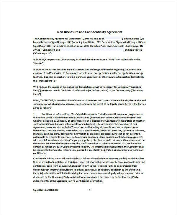Company Audit Confidentiality Agreement Template