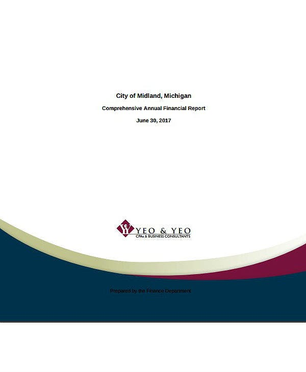 comprehensive city annual financial report template