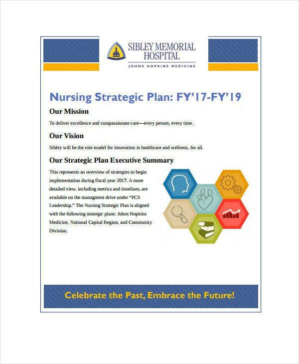 Comprehensive Nursing Strategic Plan Sample