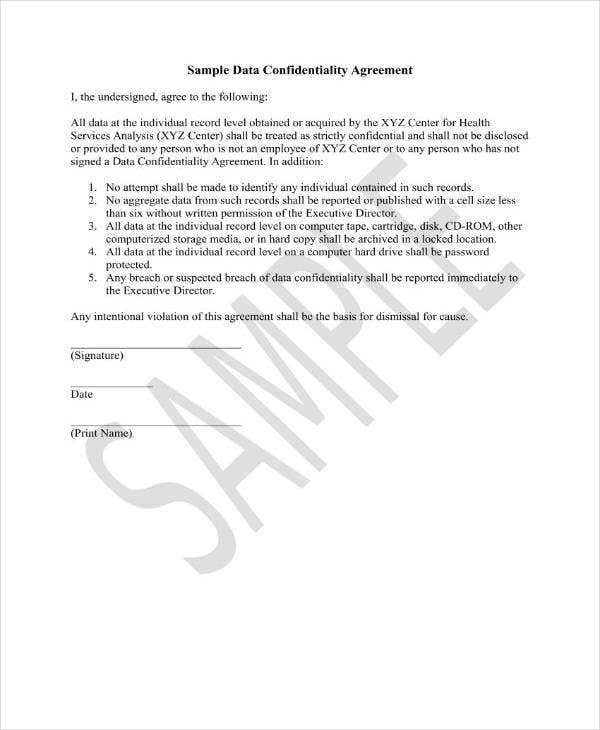 Computer Data Confidentiality Agreement