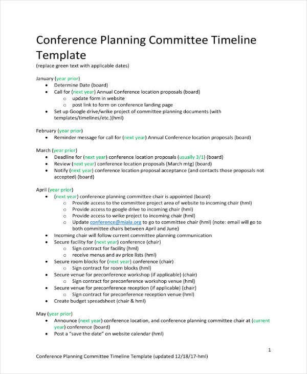 Conference Committee Project Planning