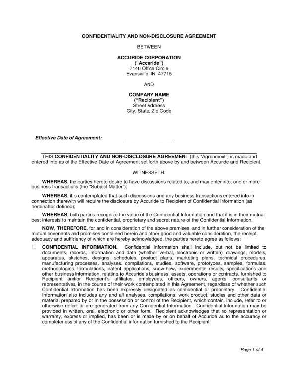 consultant confidentiality agreement template 1