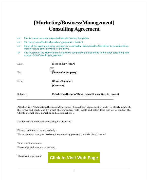 Consulting Marketing Services Agreement
