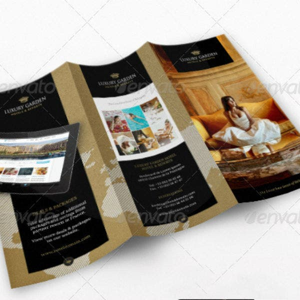 contemporary hotel brochure template