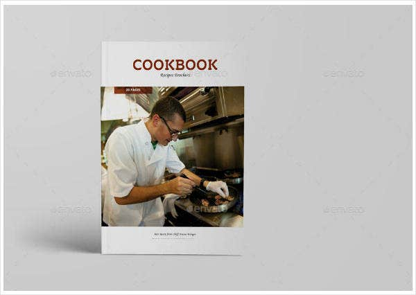 cookbook recipes catalogue template