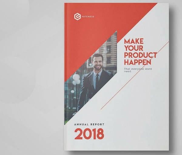 Corporate Annual Report Cover Template