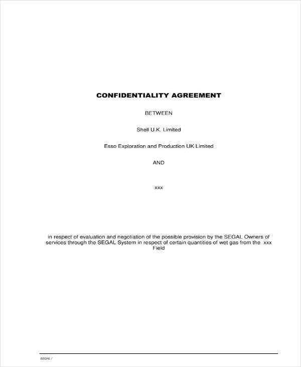 Corporate Meeting Confidentiality Agreement
