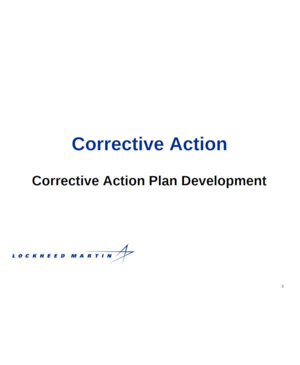 corrective action plan development1
