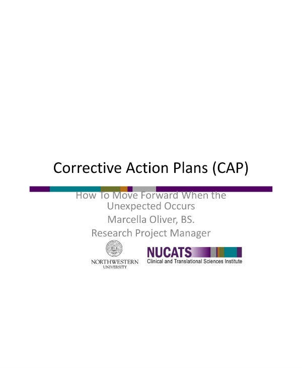 corrective action plan guidelines
