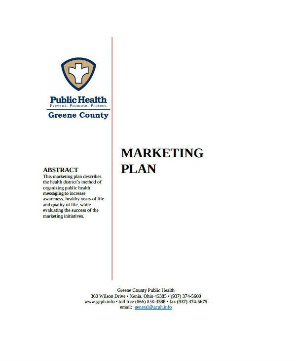 county healthcare marketing plan template