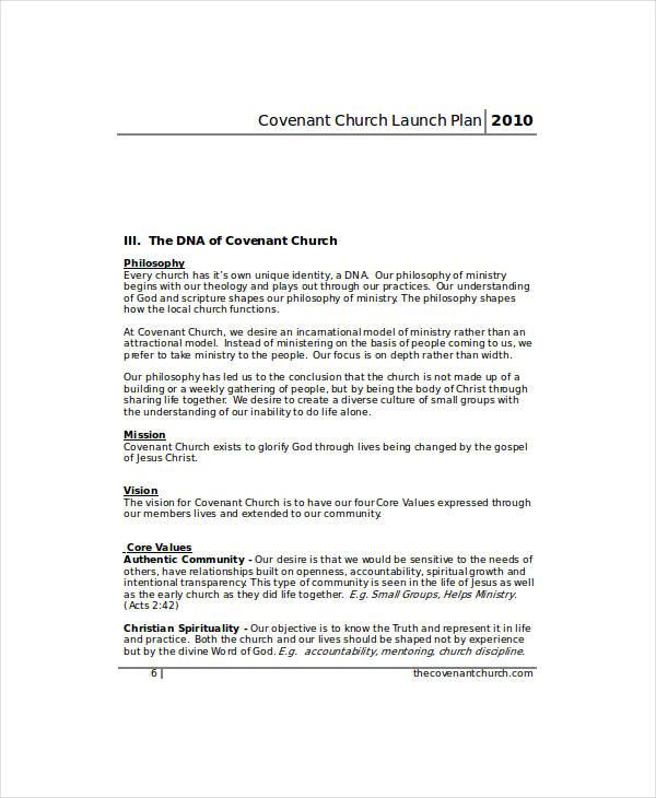 Covenant Church Launch Marketing Plan