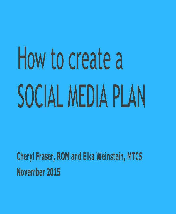 creating a social media plan