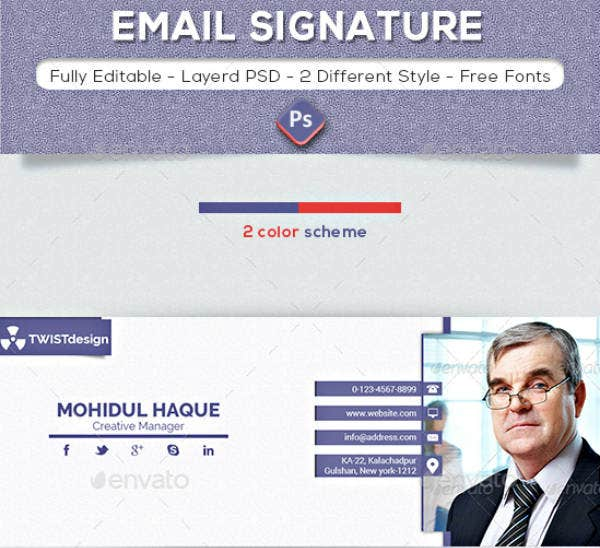 Creative Business Service Email Signature
