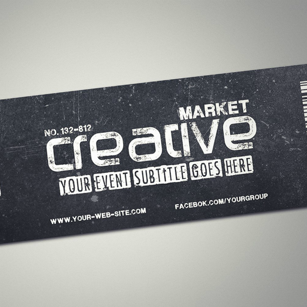 Creative Chalkboard Vintage Ticket Template