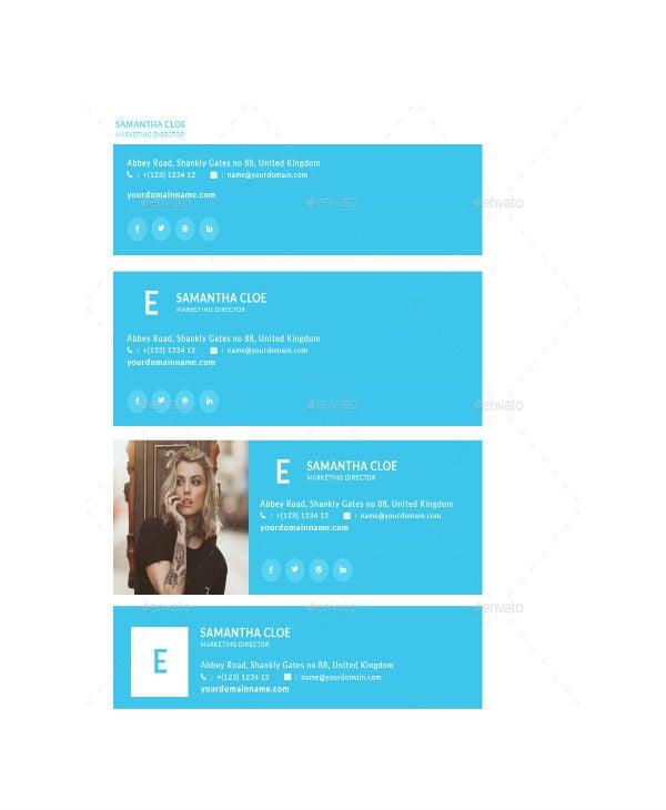 creative minimalist email signature template