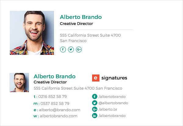 creative professional email signature template