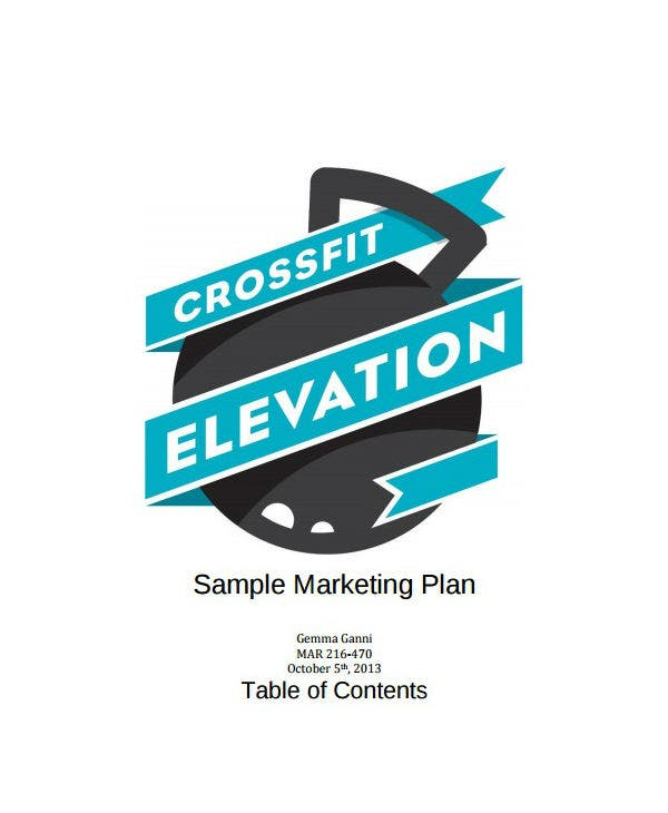 crossfit healthcare marketing plan template