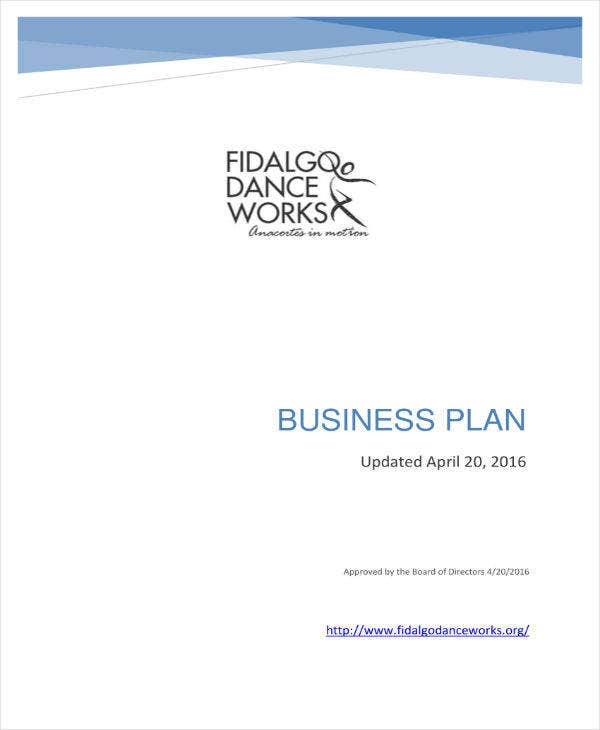 dance school master business plan