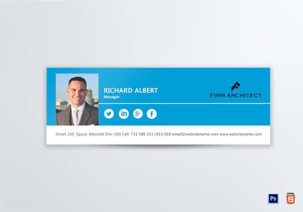 design architect email signature template
