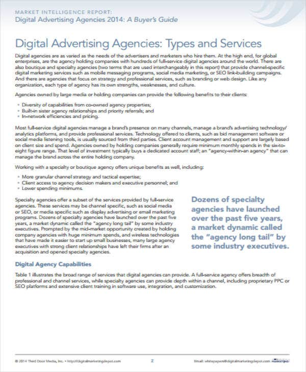 digital advertising agency business plan