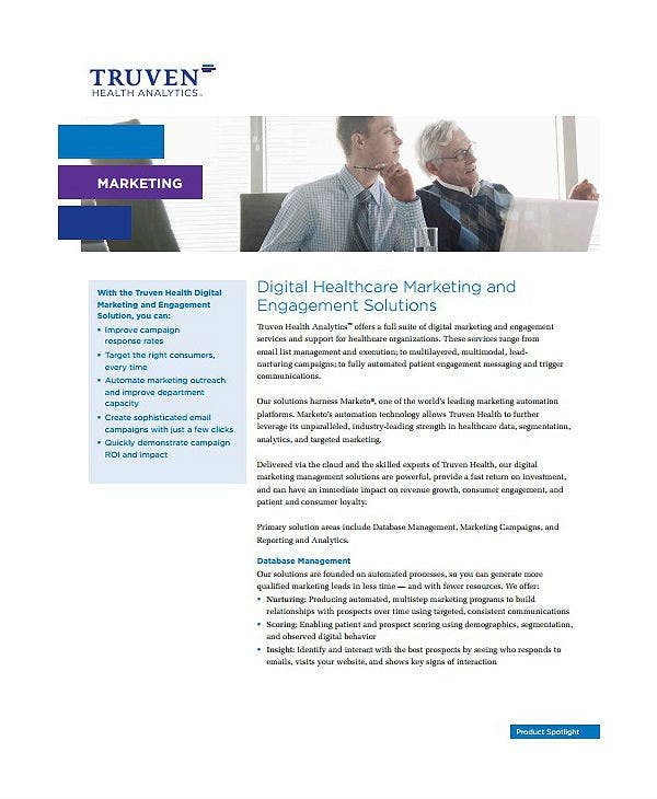 digital healthcare marketing plan template