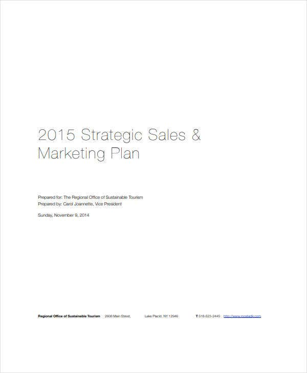 draft sales and marketing plan