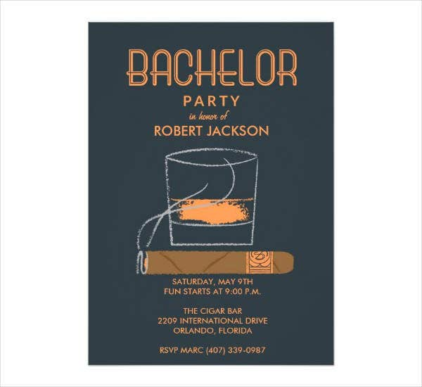 Editable Bachelor Party Invitation