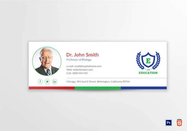 education email signature template