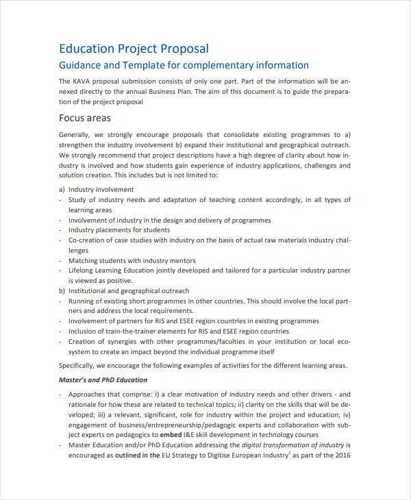 education project proposal