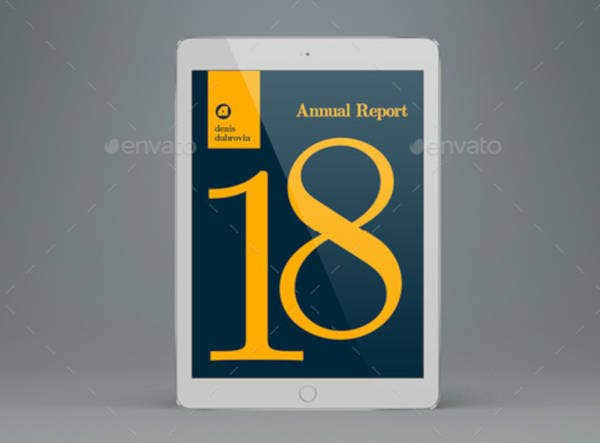 Elegant Annual Report Cover Template