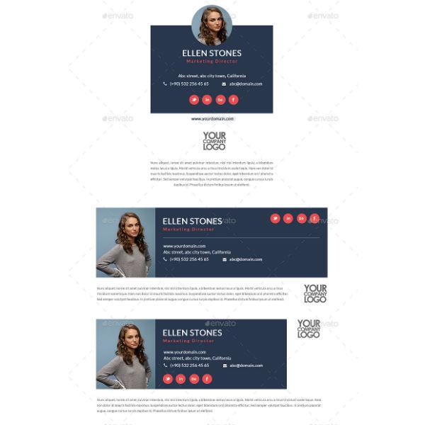 elegant marketing manager email signature template