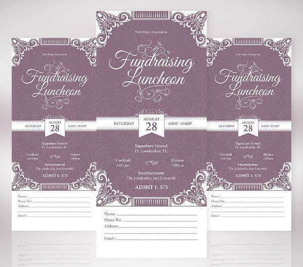Elegant Ornate Vintage Ticket Template