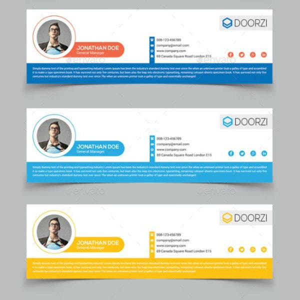 elegant product manager email signature template