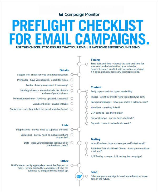 email marketing plan checklist