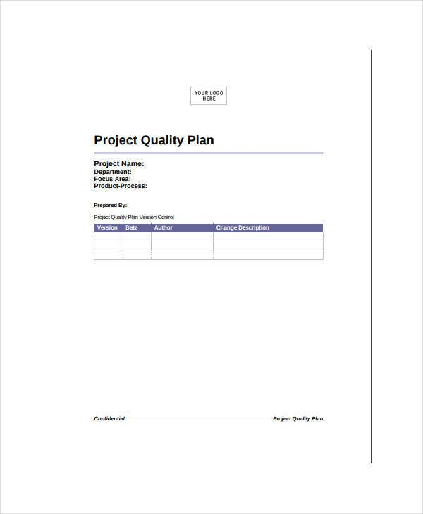 example for project quality plan