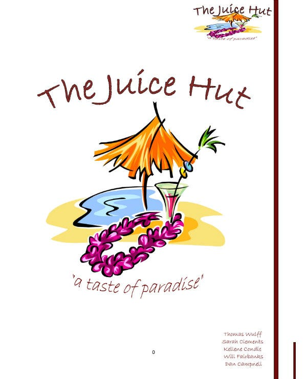 example of juice bar business plan 01