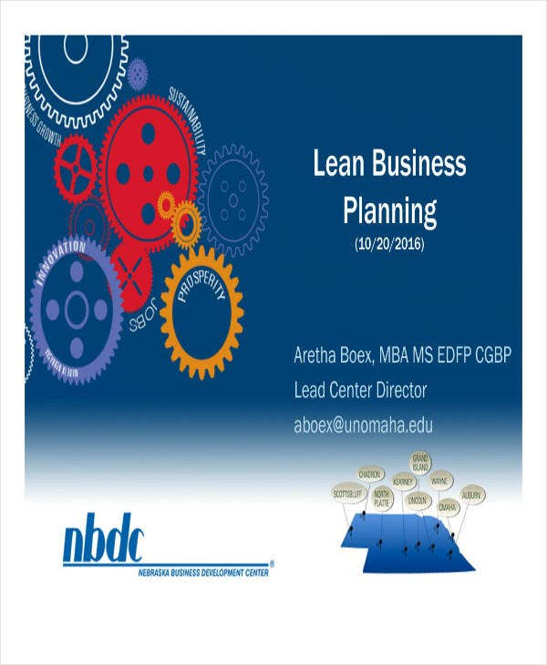 Example of Lean Business Plan