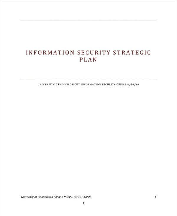 example of security strategic plan