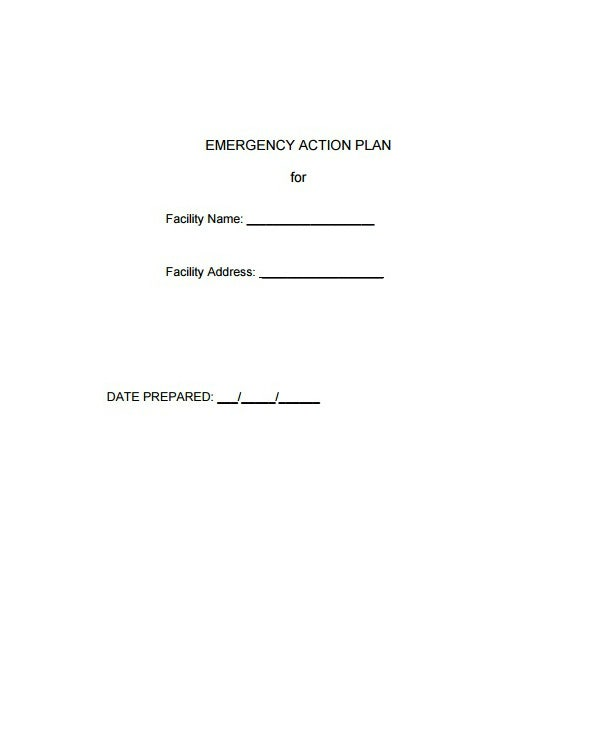 facility emergency care plan template