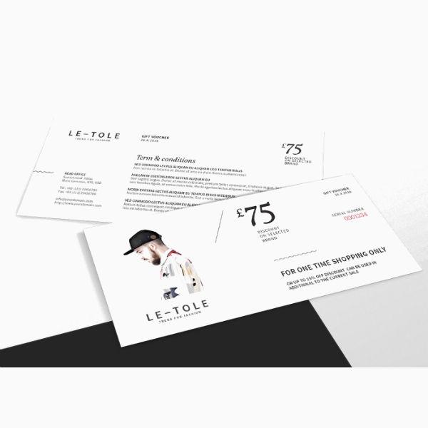 fashion gift voucher card template