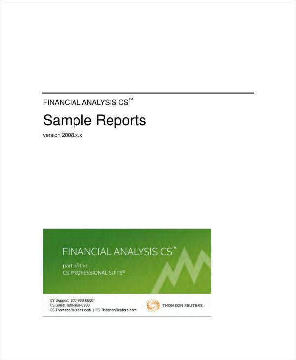 financial analysis report sample