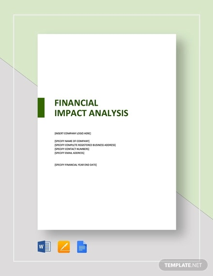 financial impact analysis template