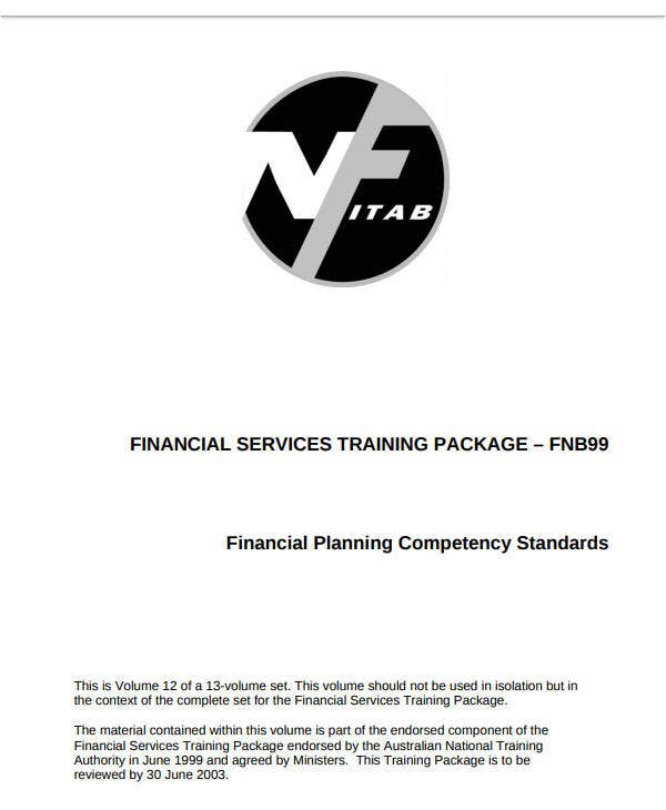 financial planning competency standards