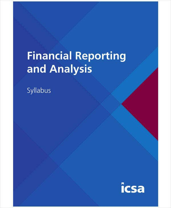 Financial Reporting and Analysis Sample