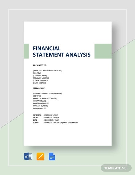 financial statement analysis template