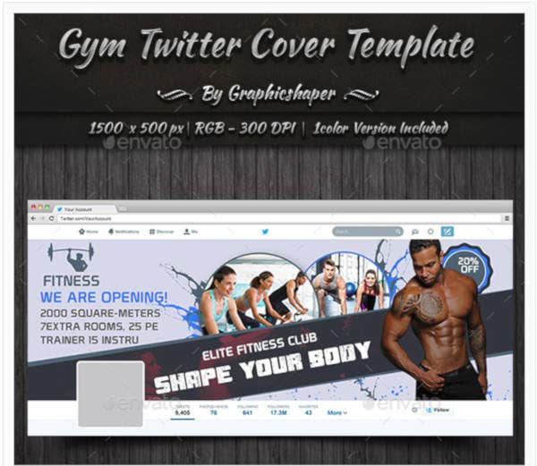 fitness club cover template